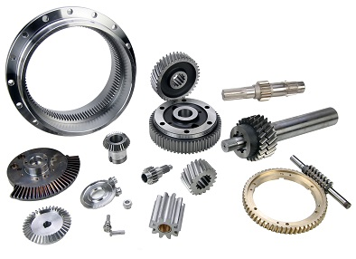 Precision gears assembly and cutting